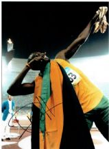 Usain Bolt Autograph Signed Photo - Olympic Gold